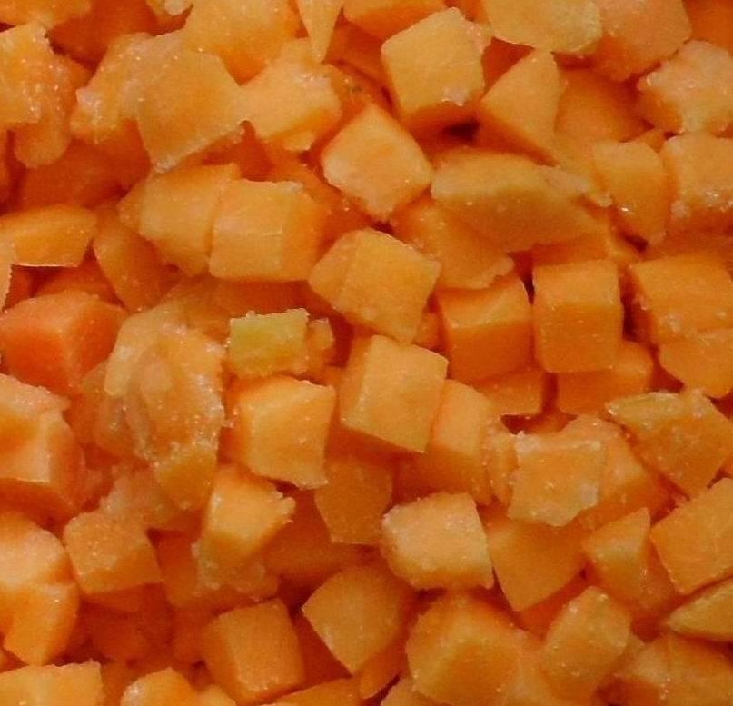 frozen peach diced