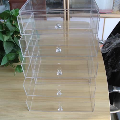 acrylic makeup organizer display stand