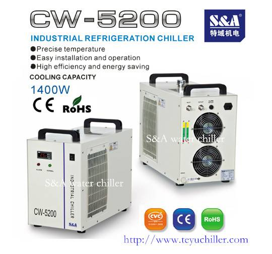 CW-5200 Industrial Water Chiller for CNC/Laser Engraving Machine