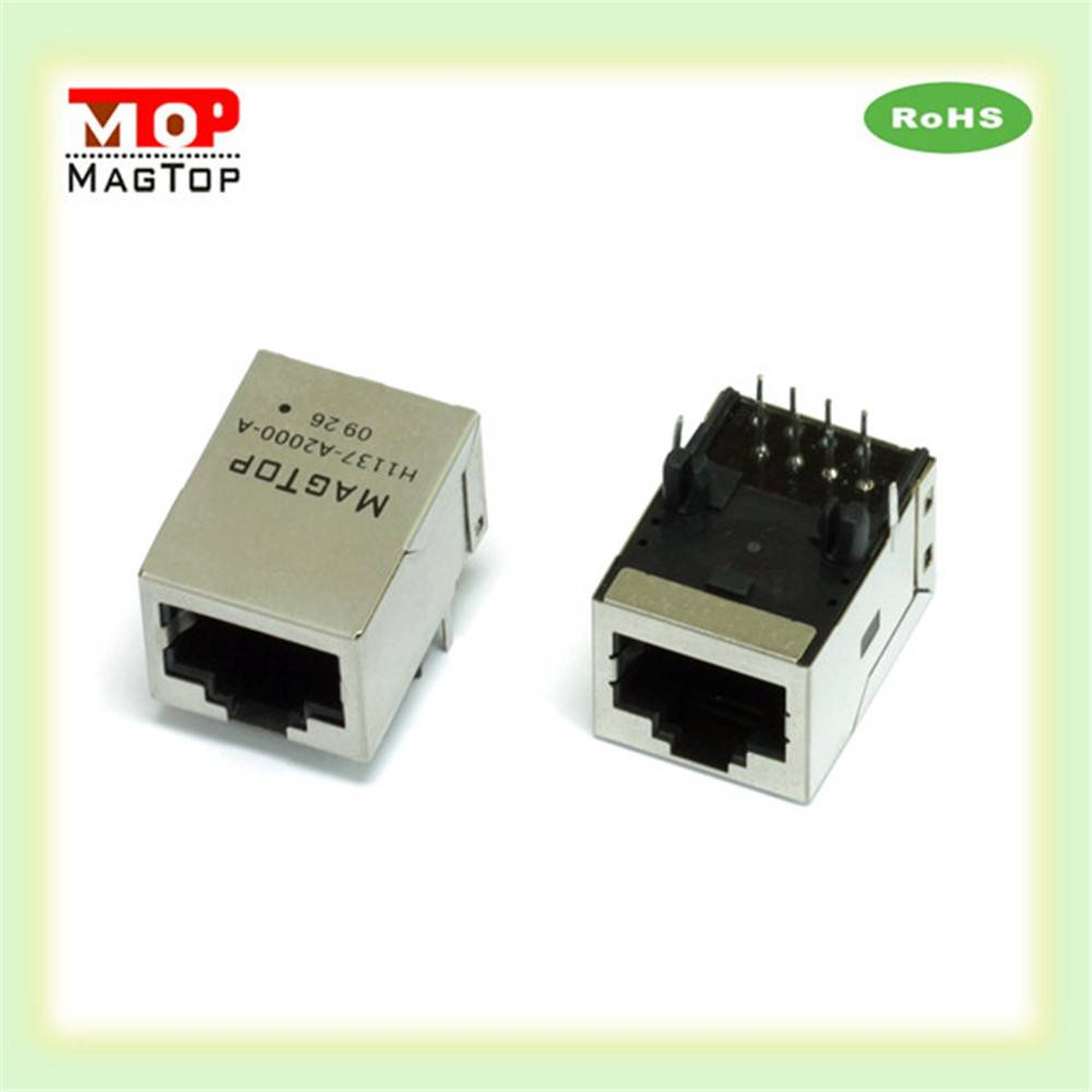 10/100/1000 Base-Tx Intergrated Magnetic Transformer Single Port RJ45 Transformer