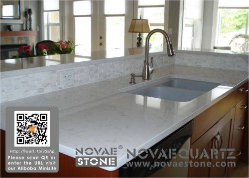 China quartz stone quartz slab countertop fabrication