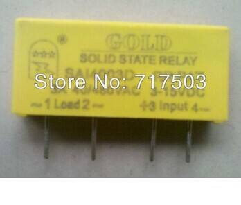 Freeshipping PCB small solid state relay single-in-line SAI4003D DC to AC 3A SSR input 3-15v or 15-2