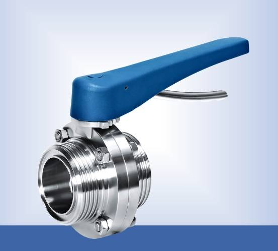 Stainless steel threaded directional butterfly valve with plastic handle