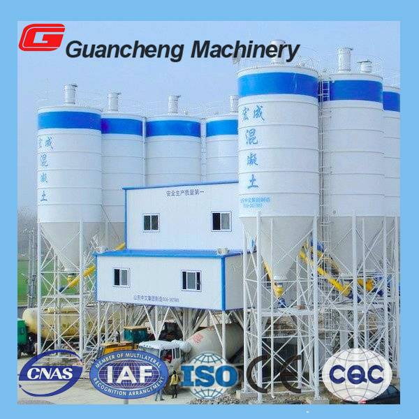 HLS180 Concrete Batching Plant with 150m3/h capacity