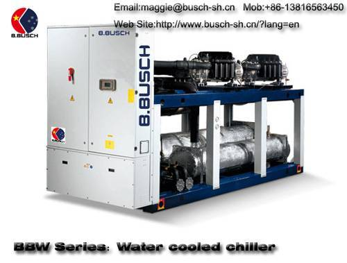 BUSCH water cooling screw chiller for cooling water and air conditioning plant