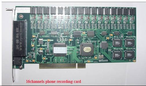 16channels Telephone voice recording card