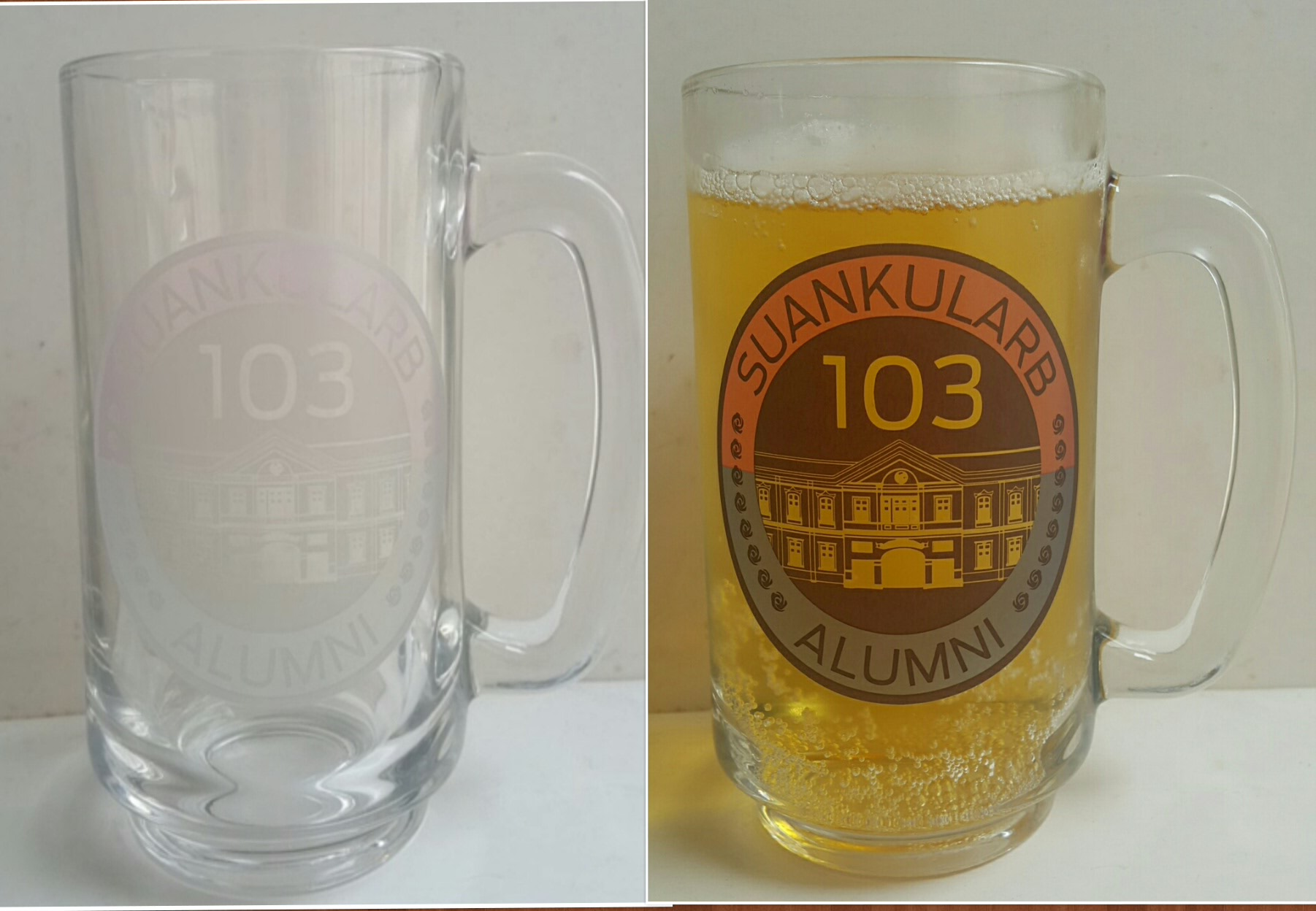 AirPont Thermochromic cold sensitive ColorChange logo beer glass