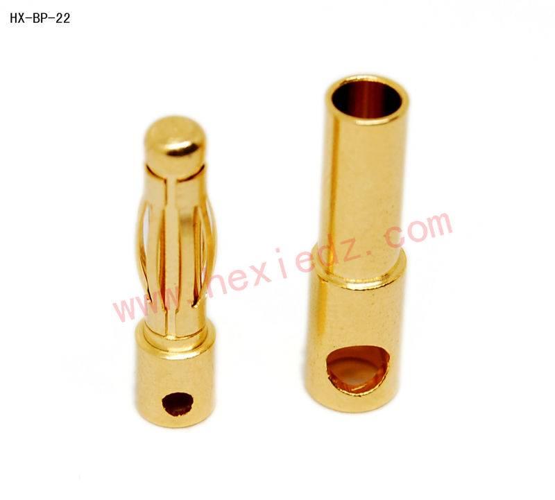4.0 gold plated banana plug connector