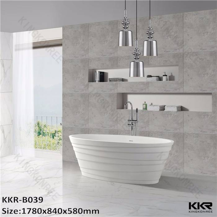 1780x840x580mm freestanding artificial stone resin bath