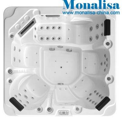 Monalisa outdoor spa with jacuzzi balboa and tragon fly water jets