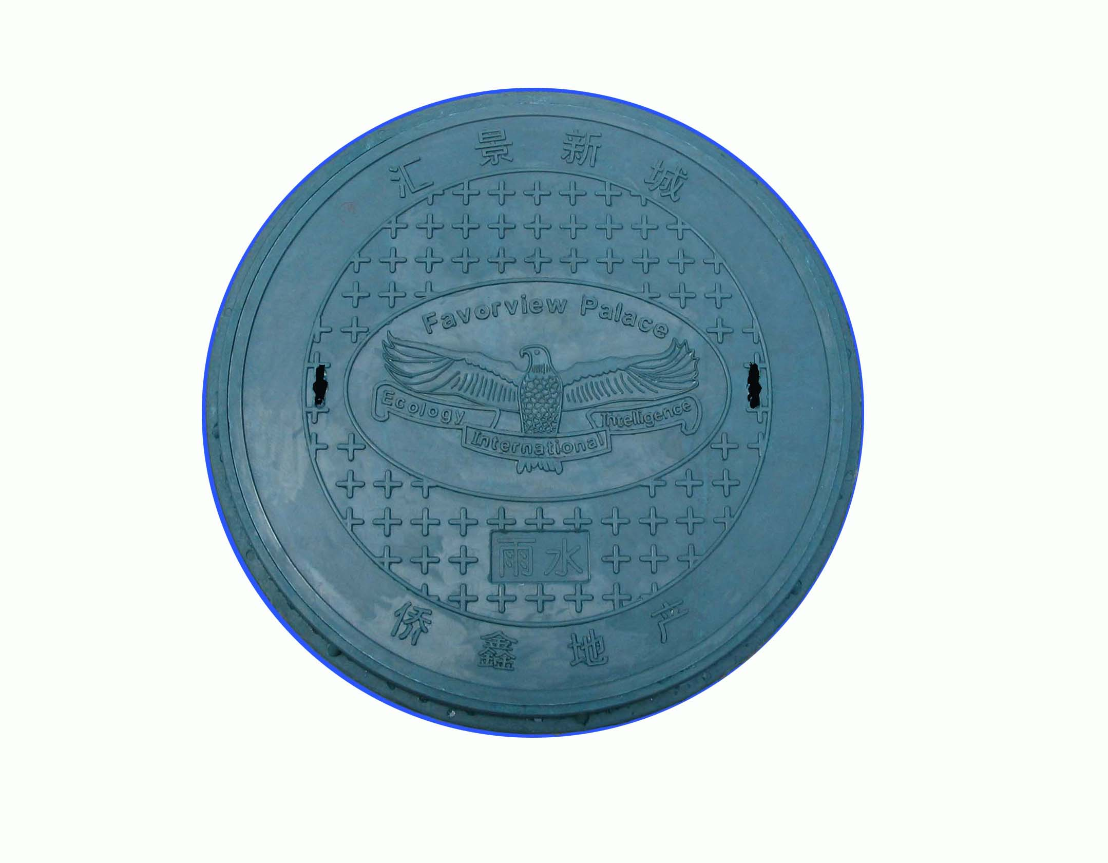 70030mm round SMC sheet manhole cover with CE certificate