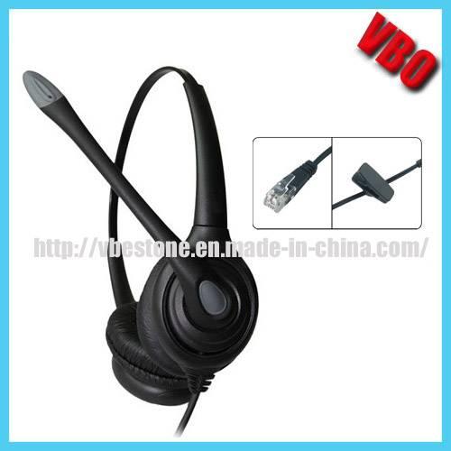 Noise-Cancelling Headphone Rj11 Rj9 Call Center Telephone Headset