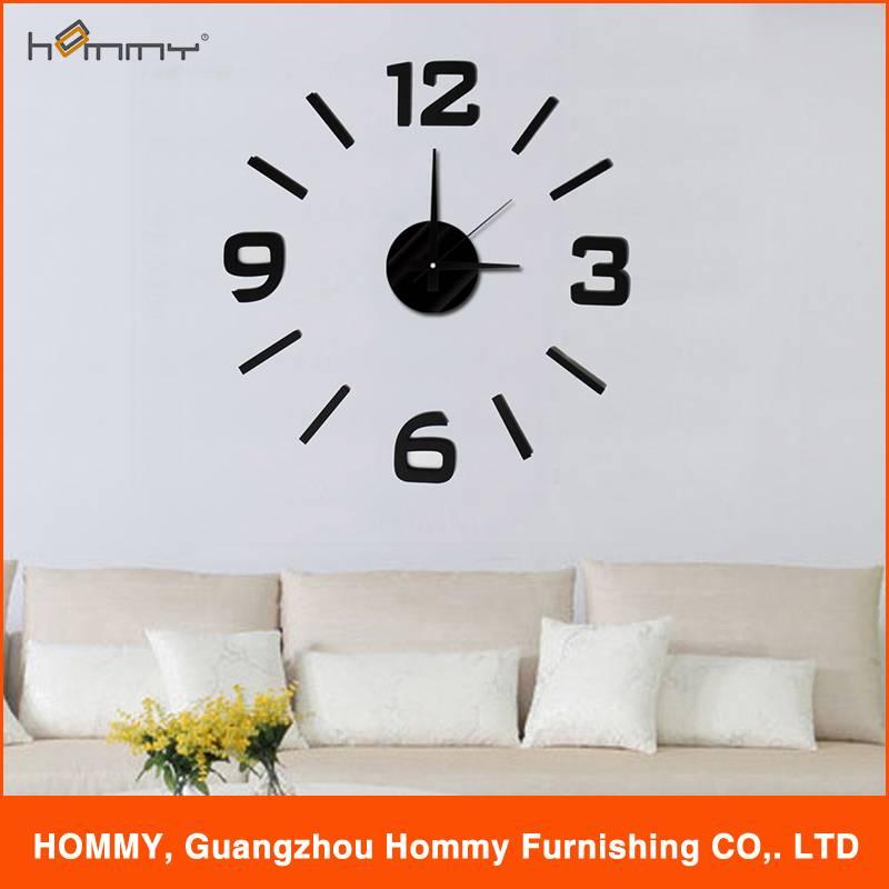 Wall sticker clock, diy removable sticker clock