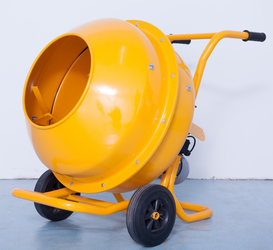 Mini Hand Mixer With 2 Wheels For Stirring Concrete, Sand With High Efficiency