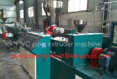 PVC pipe extruder machine China