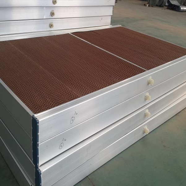 Honeycomb evaporative cooling pads for poultry farming and greenhouse ventilating