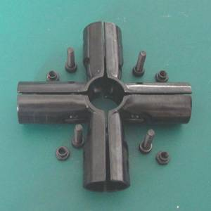 JYJ-5 Steel Connector Clamp w Fastener For Pipe Tube
