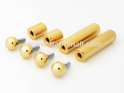 Desktop standoffs, brass 12mm