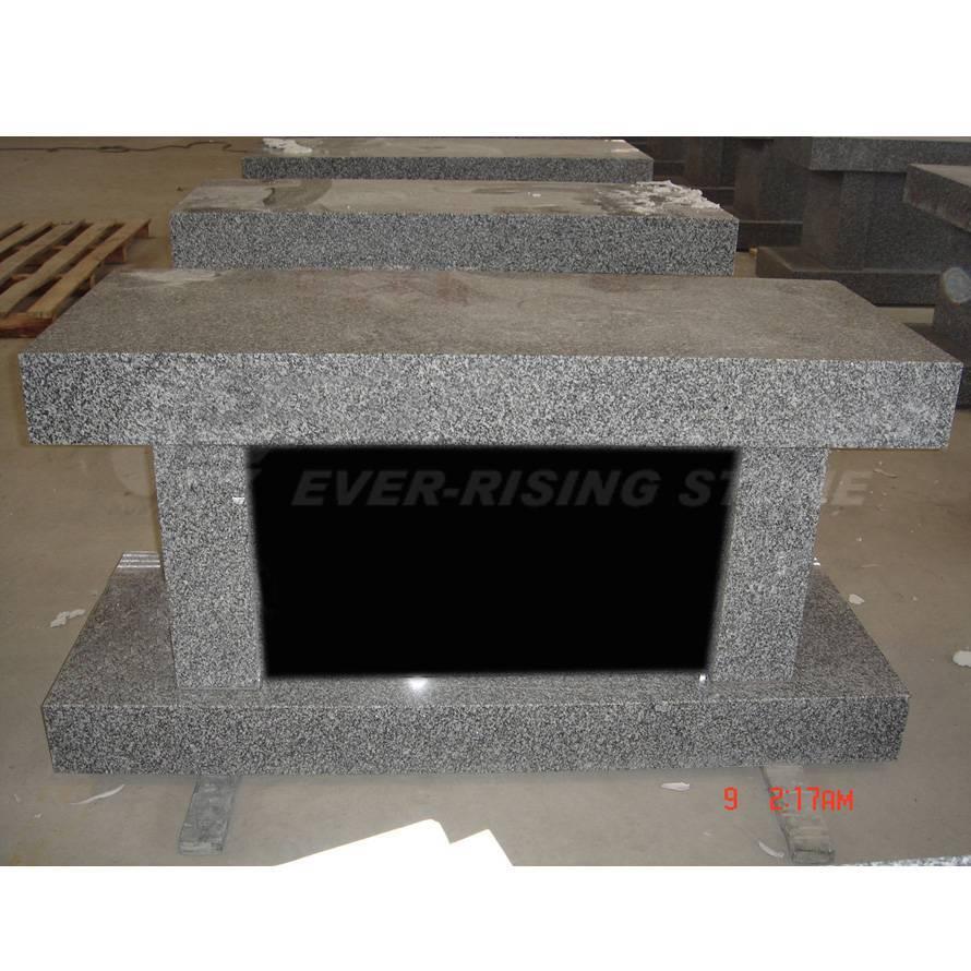 Granite Cremation Bench Columbarium