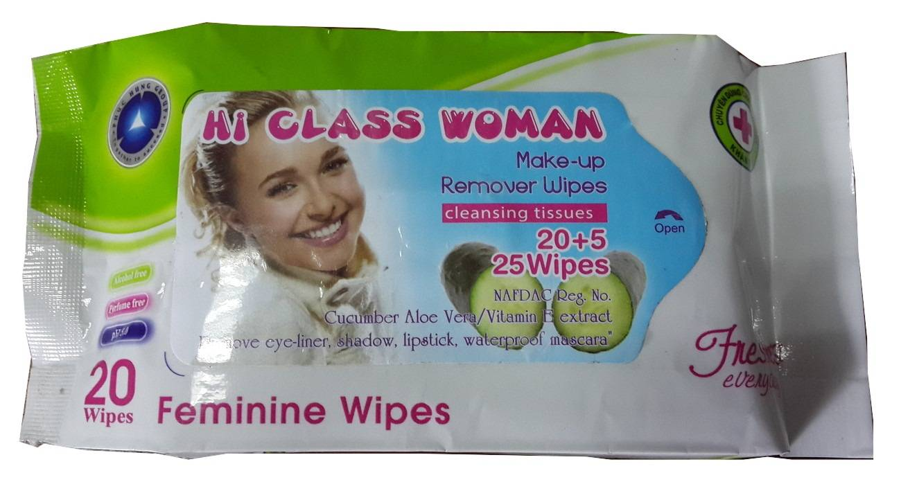 20 sheet Make up remover wet wipes