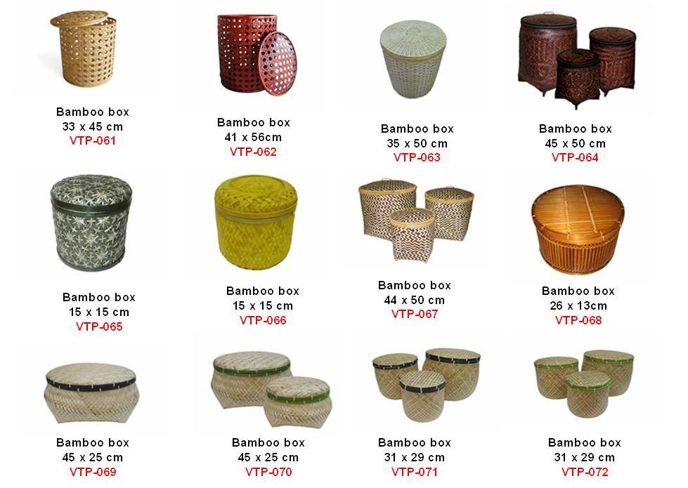 vietnam bamboo box, rattan box, bamboo rattan box, rattan bamboo box