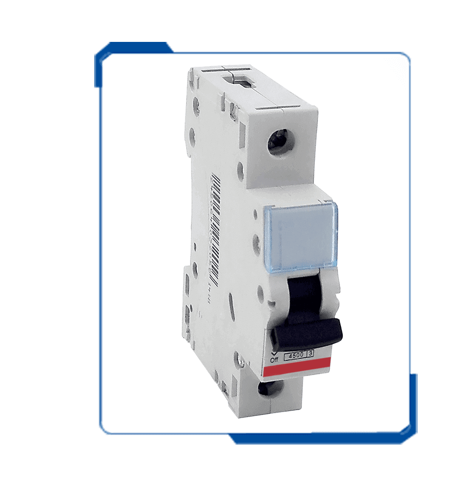 A6 1P din rail mcb ac circuit power breaker