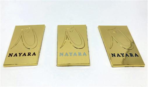 Gold Zamac Label