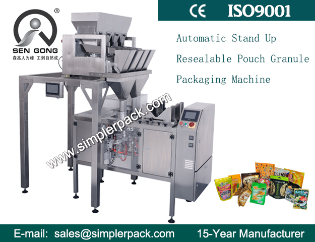 Pre-made Ziplock Bag Filling and Sealing Machine for Food Smalls