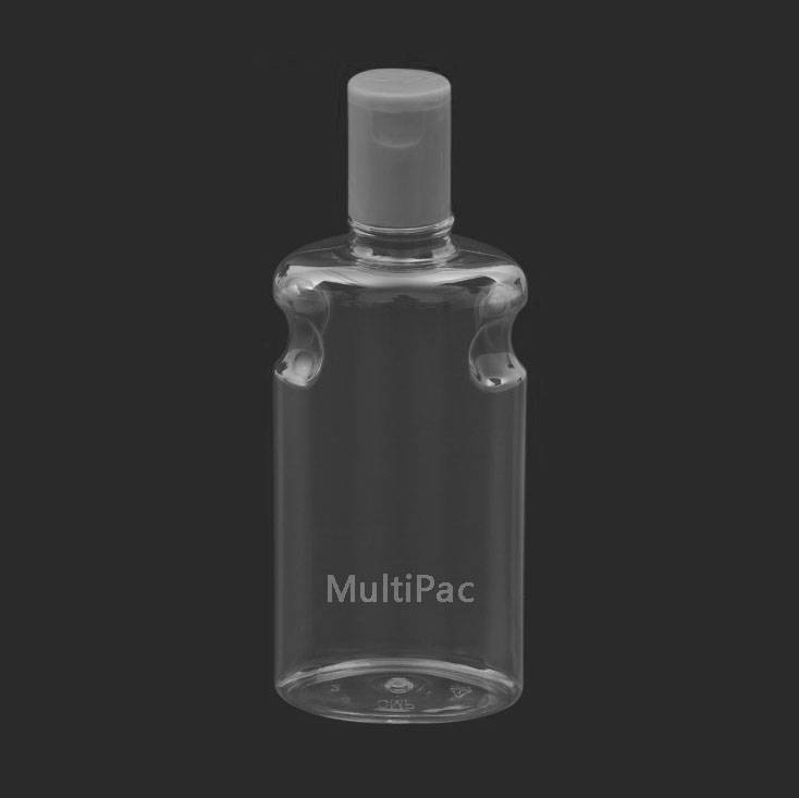 300ml PET bottle with flip top cap, plastic cosmetic lotion bottle