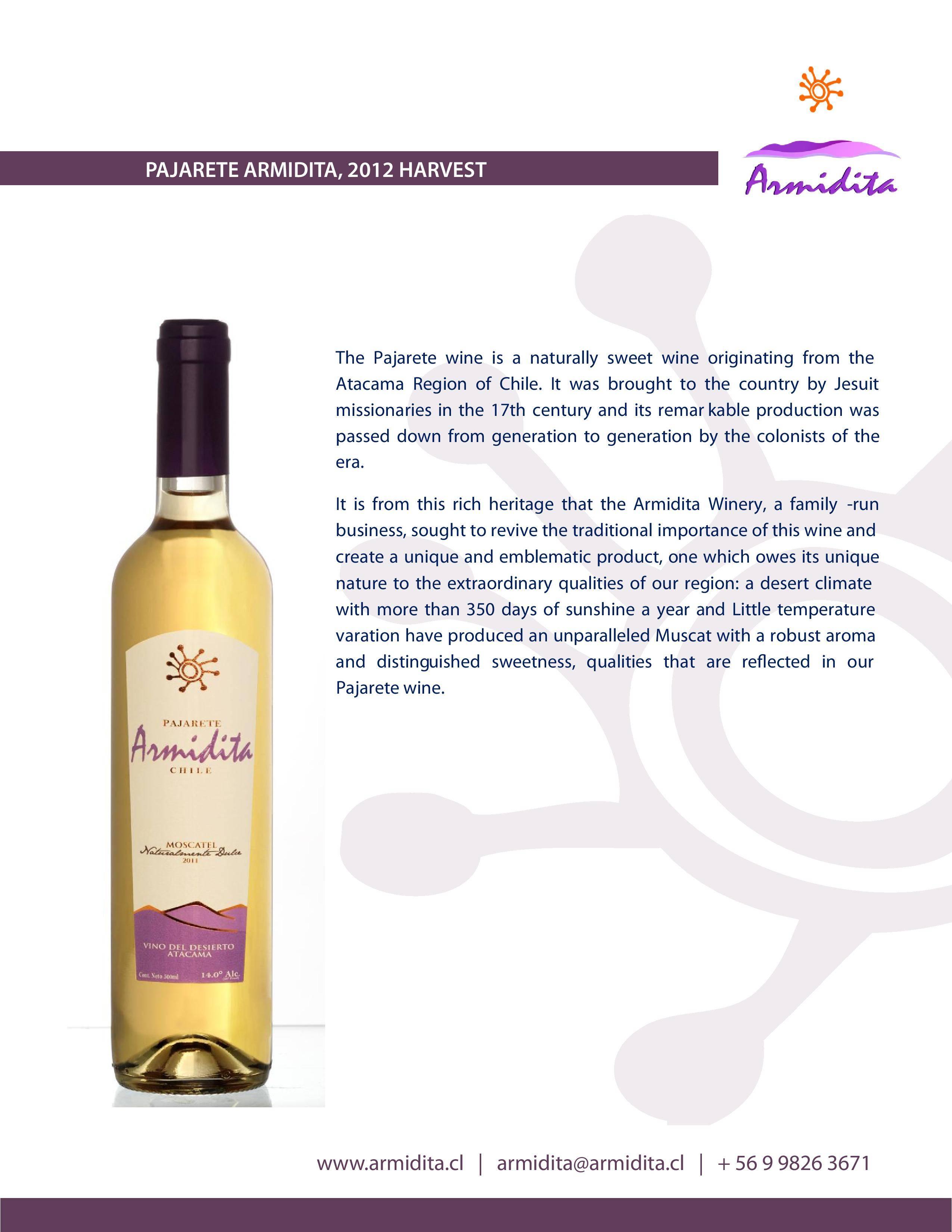 PAJARETE SWEET WINE
