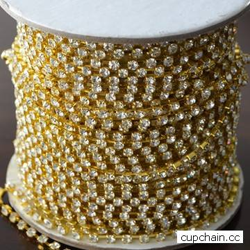 Crystal cup chain,Rhinestone cup chain, cup chain with strass,, swarovsky,fusenby,asfour
