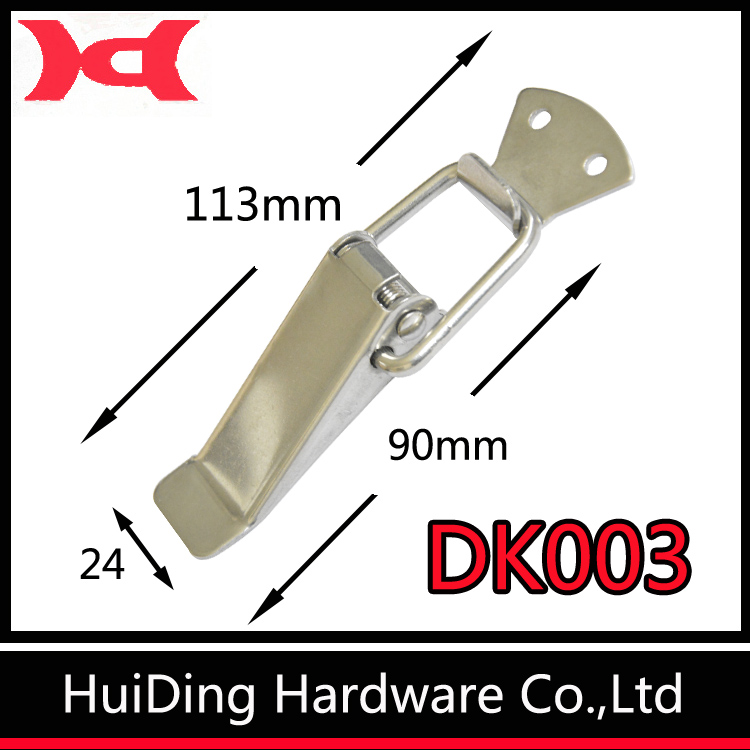 Stainless Steel Spring Loaded Toggle Latch Catch Clamp Clip for Trunk, Case, Box, and Chest