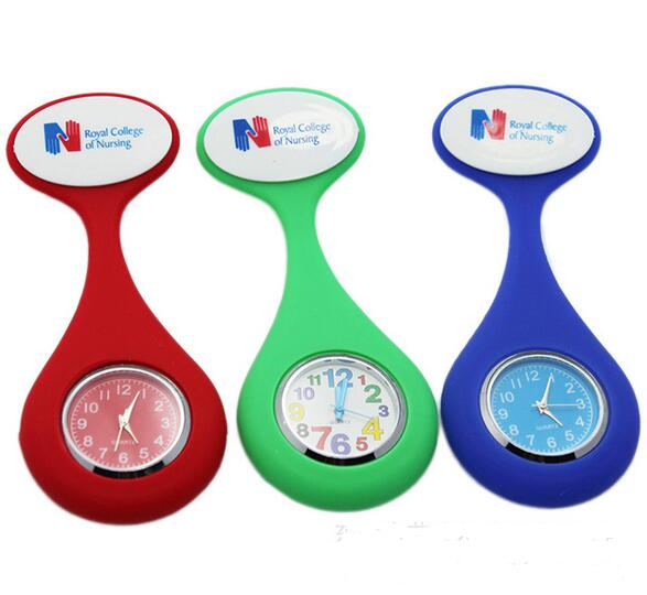 Yxl-947 New Nurses Watches Doctor Portable Fob Watch Brooches Silicone Tunic Batteries Medical Nurse