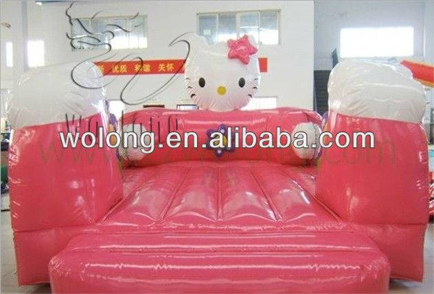 The world's most popular and lovely pink hello kitty inflatable bouncer