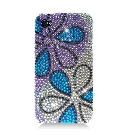 Iphone4 flower diamond case
