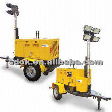 Light tower,Mobile lighting tower,Hydraulic Mobile Light Tower,trailer type mobile construction ligh