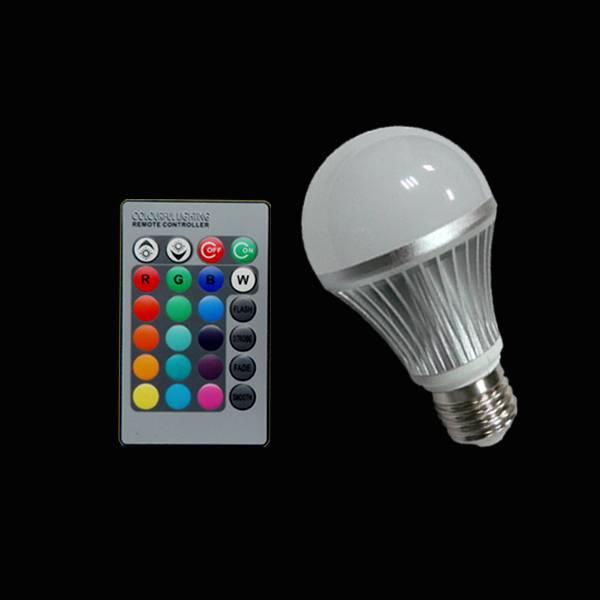 changing RGB bulb with remote control 5W Super bright Power led rgb bulb light