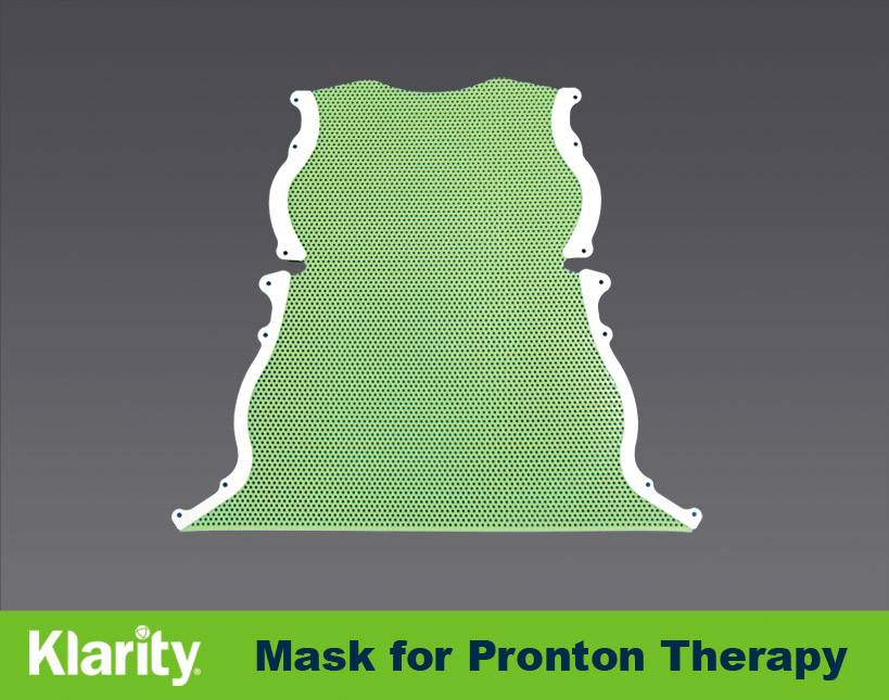 Proton Therapy Head & Shoulder Mask for Bos Headframe Thermoplastic Mask
