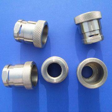 Stainless Steel CNC Turned Parts with Sheared and Knurled Trough