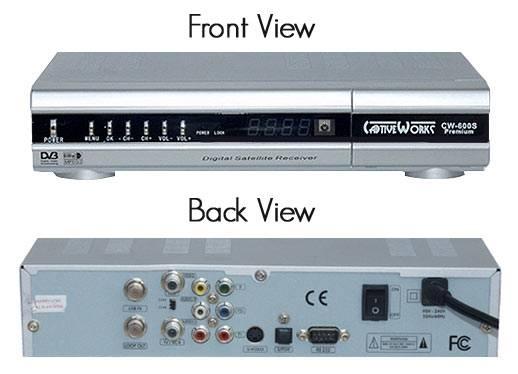 CW600S Premium Digital Satellite Receiver for North American