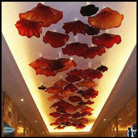 Blown Glass Plate Wall Art for Ceiling