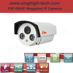 P2p Onvif 960p 1.3MP Waterproof IR IP Camera (NS6267)
