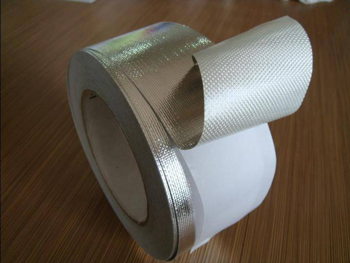 manufacturer of Aluminum Foil Tape Laminated to Fiberglass Fabric with Liner for Refrigeration Equip