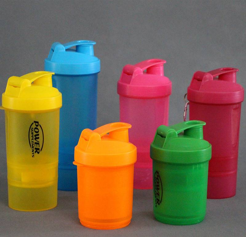 3-in-1 shaker bottle with supplement container/BPA free