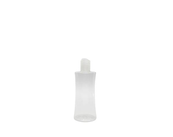 cosmetic pump bottle curved