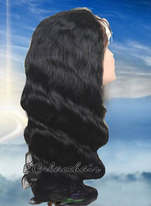 Wholesale Virgin Indian Brazilian Body Wave Human Hair Lace Wigs Accept Paypal