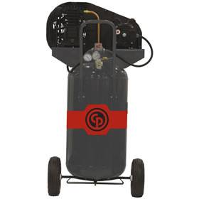 Chicago Pneumatic 2-HP 26-Gallon (Belt Drive) Dual-Voltage Cast-Iron Air Compressor