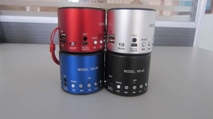 WS-A8 Mini usb speaker Portable Audio Player