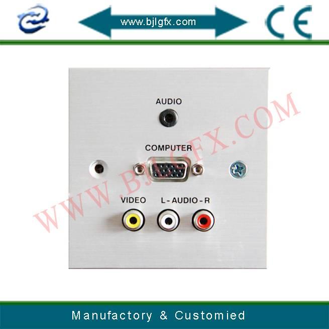 AV interface plate