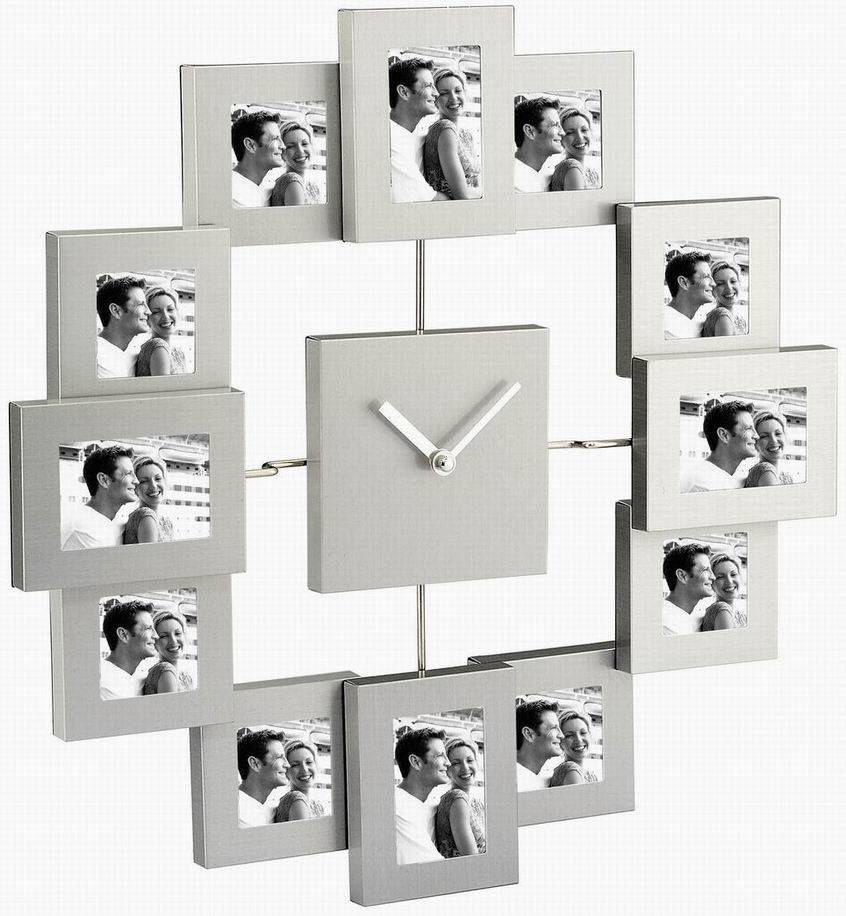 Sell metal photo frame-Aluminium Photo Frames With Clock